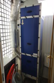 Аэролайф Приток установлен на балконе вертикальный